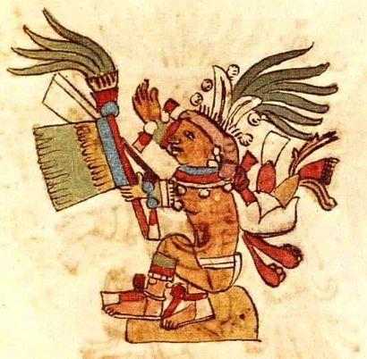 Aztec God Centeotl from the Rios Codex