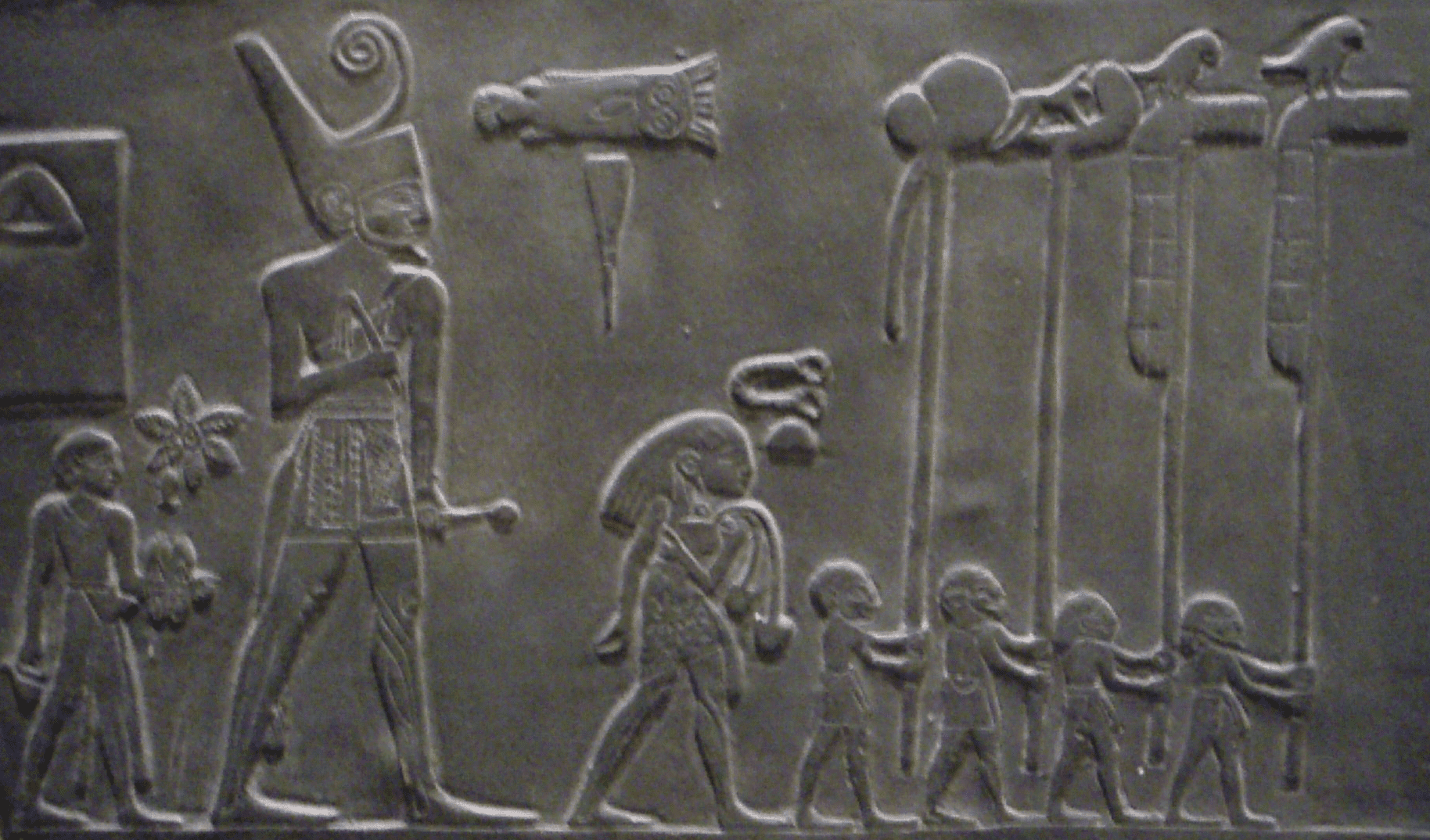Close-Up of Narmer Pallette Facsimile in the Royal Ontario Museum