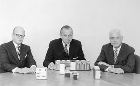 IBM Executives with 1971 Model Computer