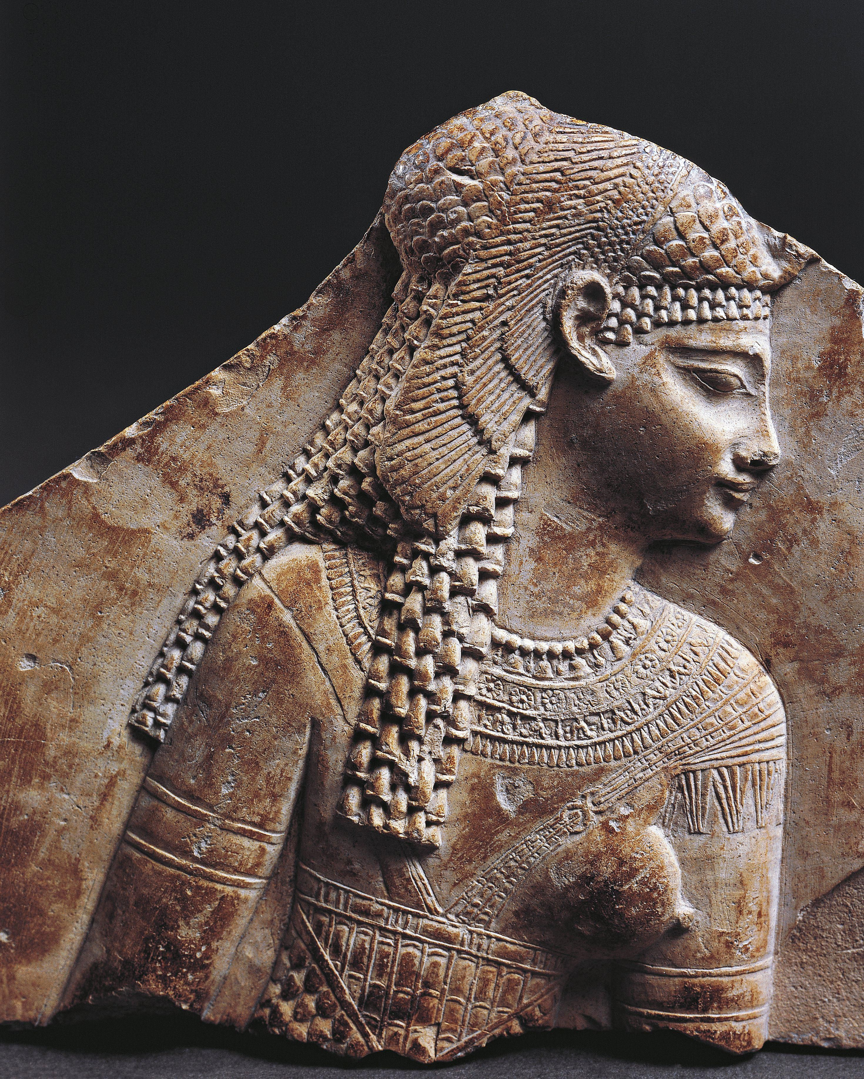 Bas relief fragment portraying Cleopatra