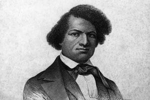 Engraved portrait of Frederick Douglass