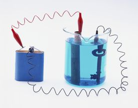 A demonstration of electroplating