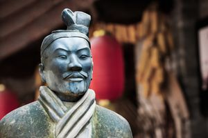 Terracotta warrior statue replica in Xiao Yanta