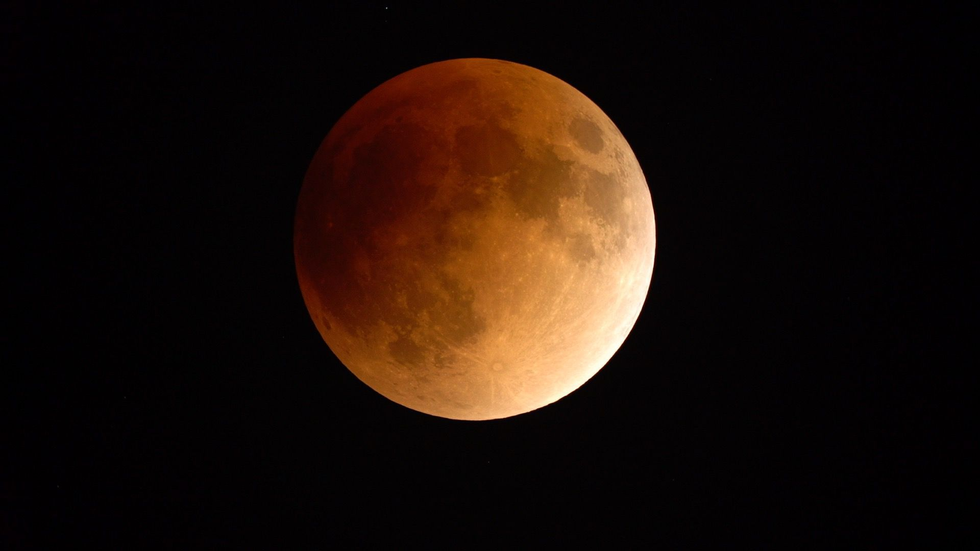 A lunar eclipse as seen through the Griffith Observatory telescope.