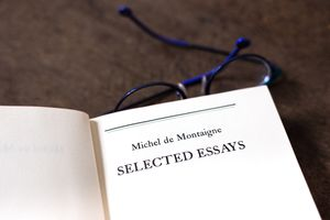 Open Book, Title Page: Montaigne Selected Essays