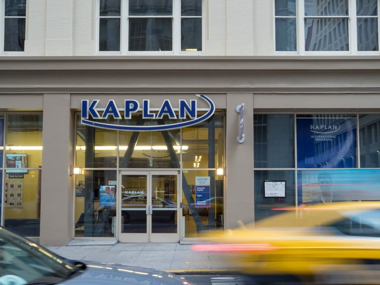 Kaplan Test Prep entrance to a branch location in downtown San Francisco