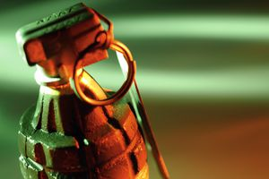 Close up of hand grenade