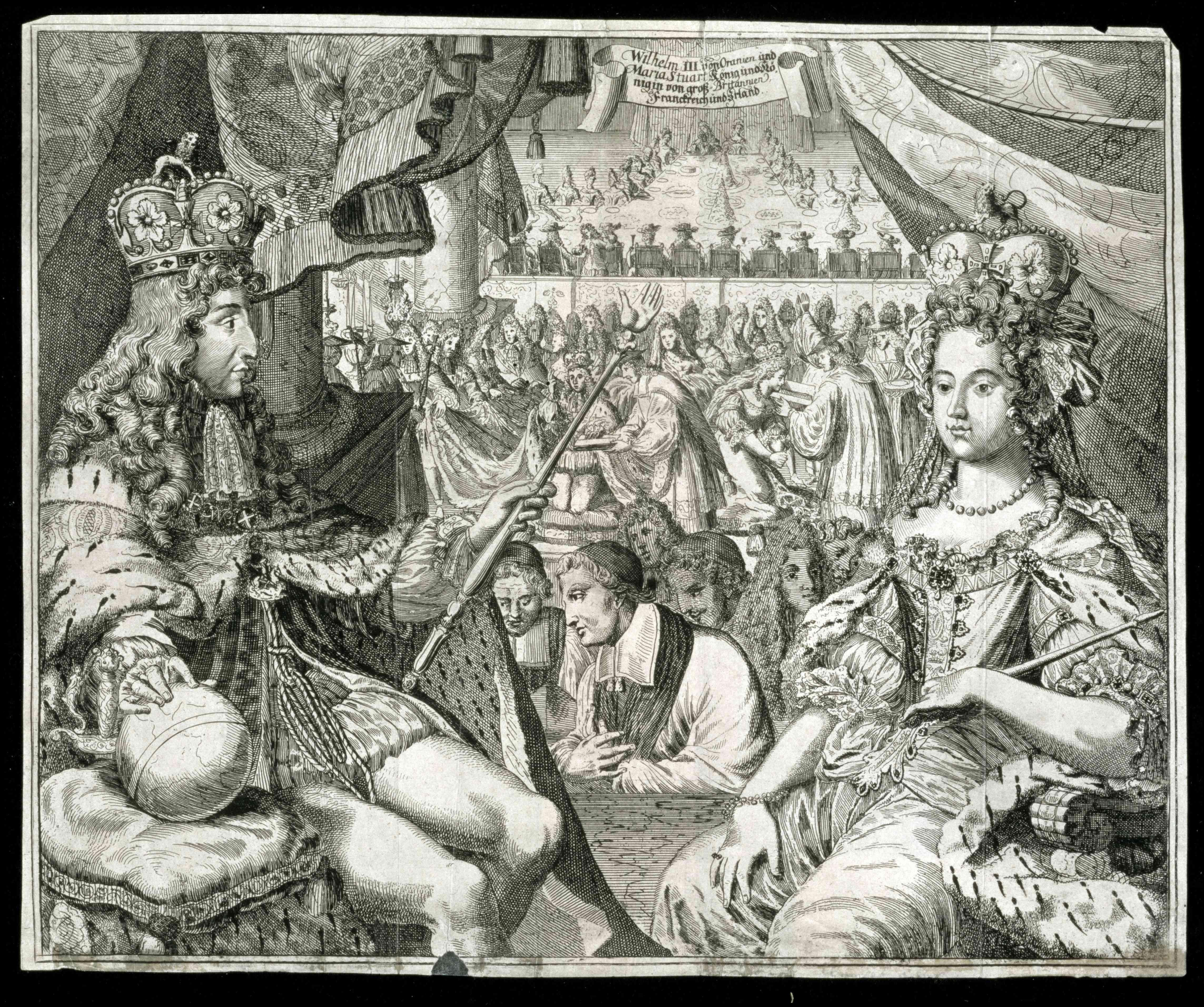 William III und Mary II König und Königin von Großbritannien und Irland um 1689