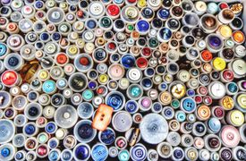 This is a heterogenous mixture of buttons of different shapes and sizes.