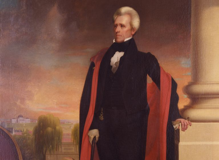 Full color portrait of Andrew Jackson by Ralph Eleaser Whiteside Earl.