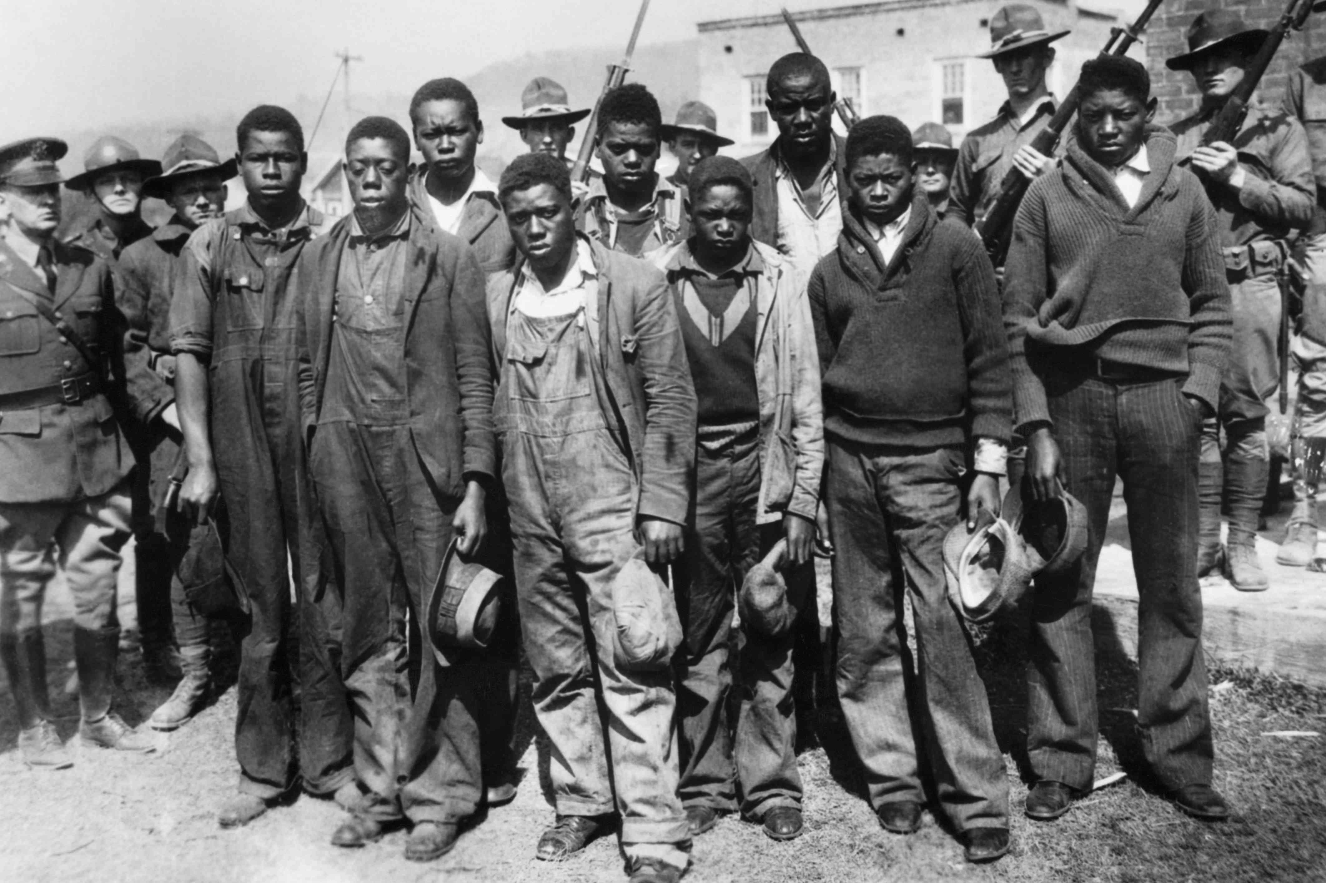 All nine Scottsboro Boys standing together