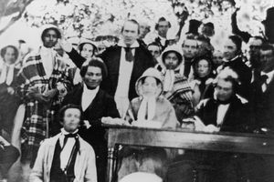 Anti-Slavery Meeting, circa 1840