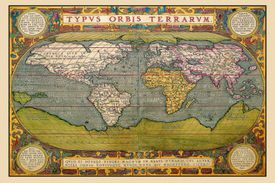 Picture of a world map from 1602