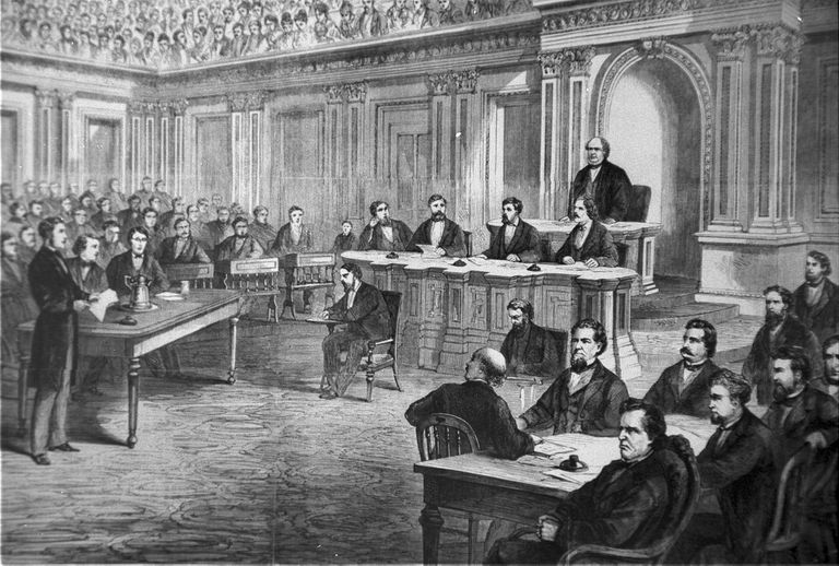 Impeachment trial of Andrew Johnson, 1868