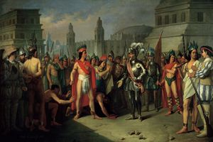 The Imprisonment of Guatimocin by the Troops of Hernan Cortes, 1856