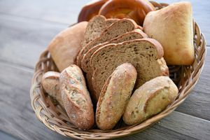 Close up of bread in a container