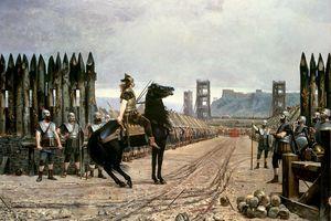 Vercingetorix surrendering to Julius Caesar, after the battle Alesia