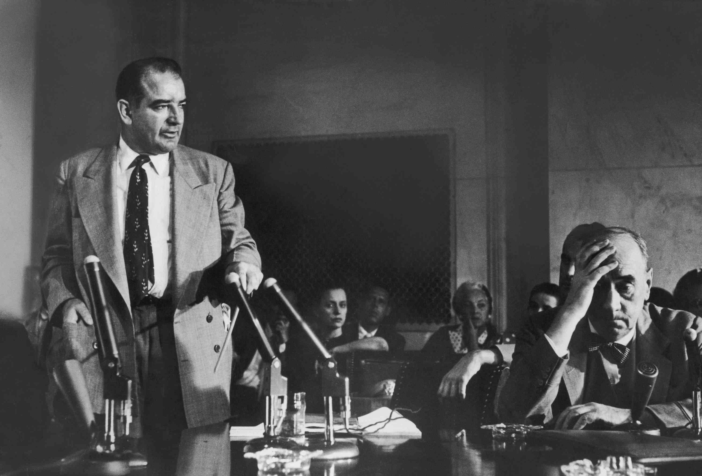 photograph of Senator Joseph McCarthy and attorney Joseph Welch