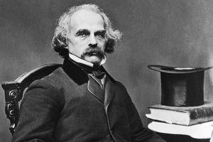 Photographic portrait of Nathaniel Hawthorne