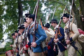 Revolutionary War reenactors