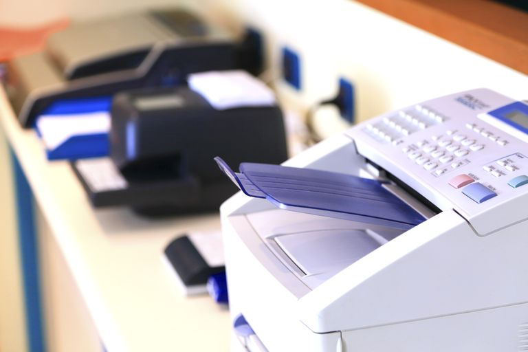 Commercial faxing machine and printer