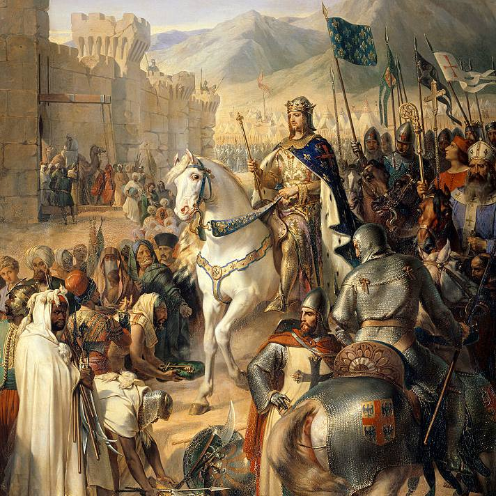 Detail of Siege of Saint-Jean d'Acre or Battle of Arsuf by Merry-Joseph Blondel