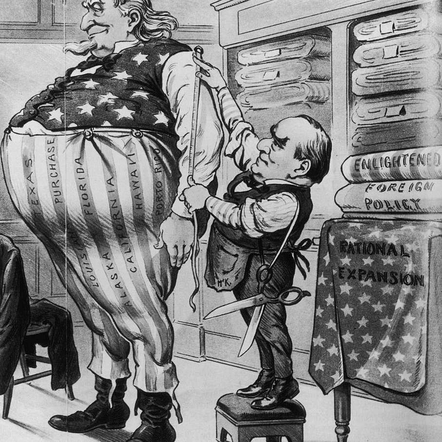 Cartoon about American expansionism, 1900