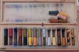 Soft pastels needs fixative
