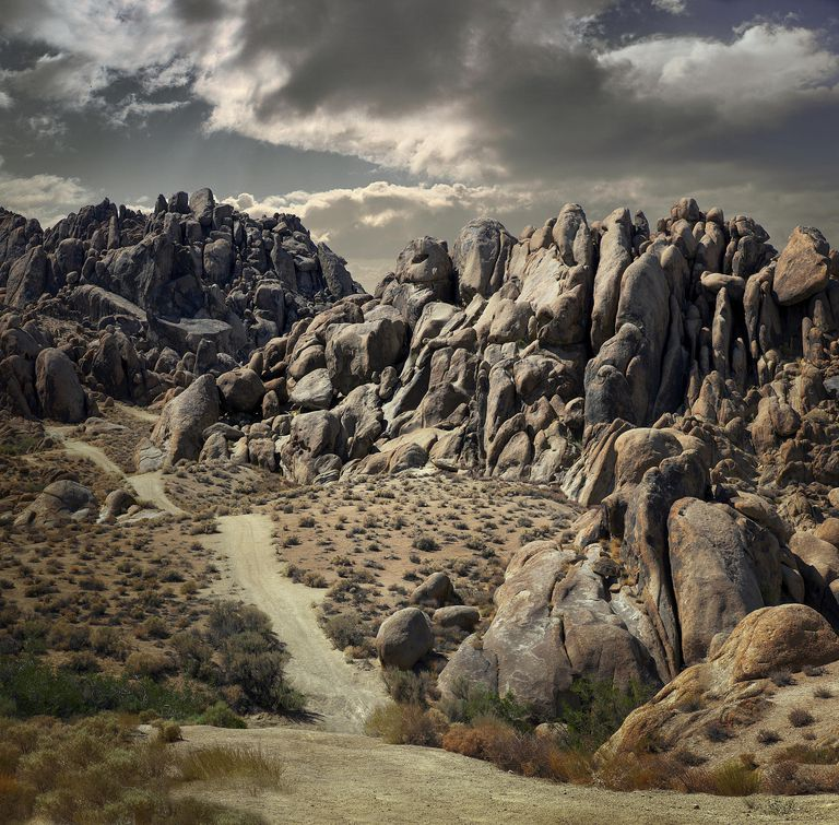 A pictureo f a beautiful rock formation in Alabama Hills, Lone Pine, California