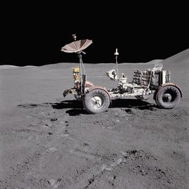 A Land Rover on the Moon