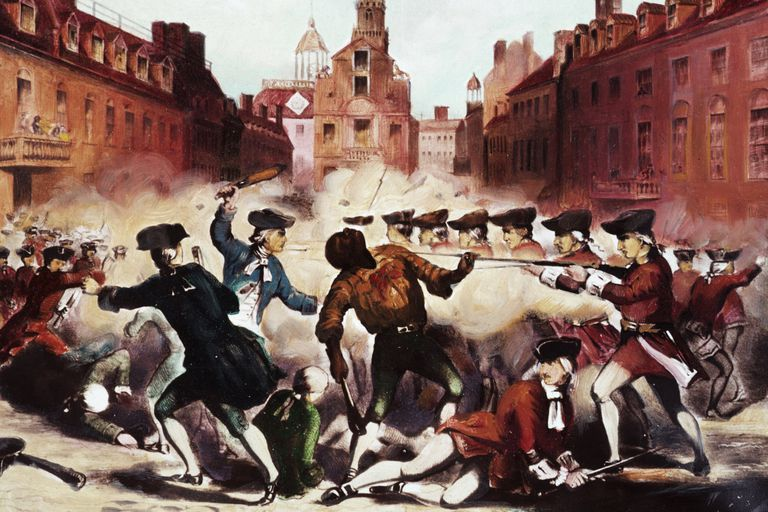 Painting of the Boston Massacre