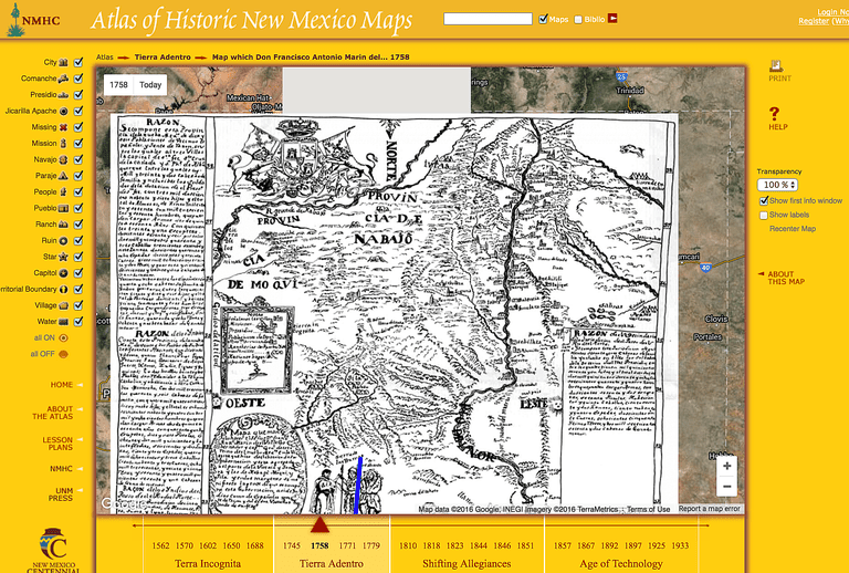 Historical map overlays for google maps and google earth view 20 historic maps of new mexico as overlays in google maps gumiabroncs Choice Image