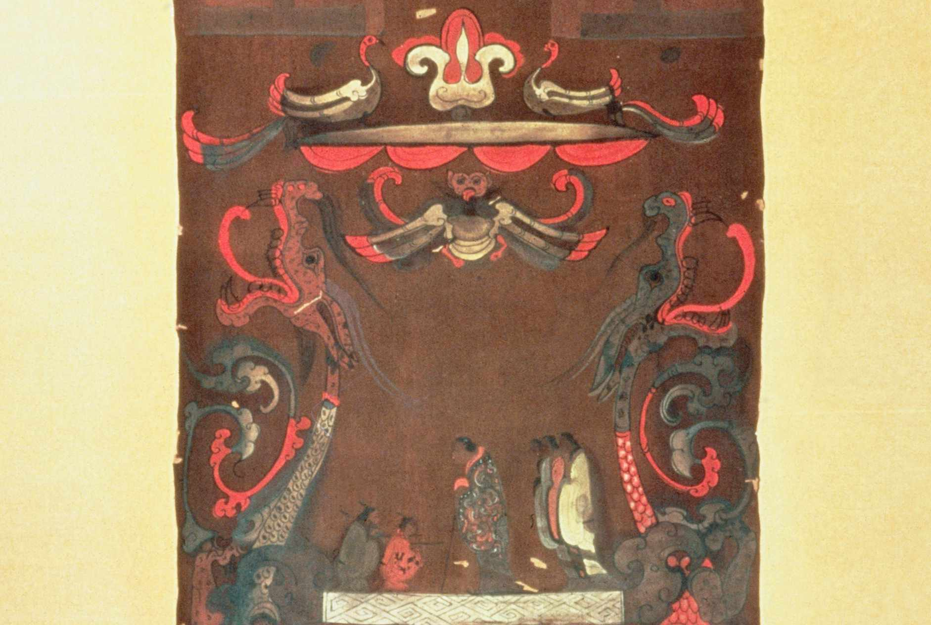 Midsection of Han Dynasty Funeral Banner Showing Deceased Lady Dai from Mawangdui