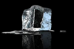 Frozen water (ice cube)