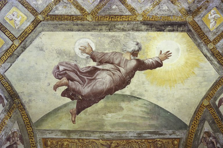 """The Creation of the Sun and Moon"" by Raphael"