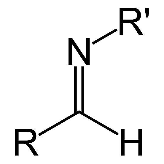 El grupo funcional secundario aldimina tiene la fórmula RC (& # 61; NR & # 39;) H.  Es un tipo de imina.