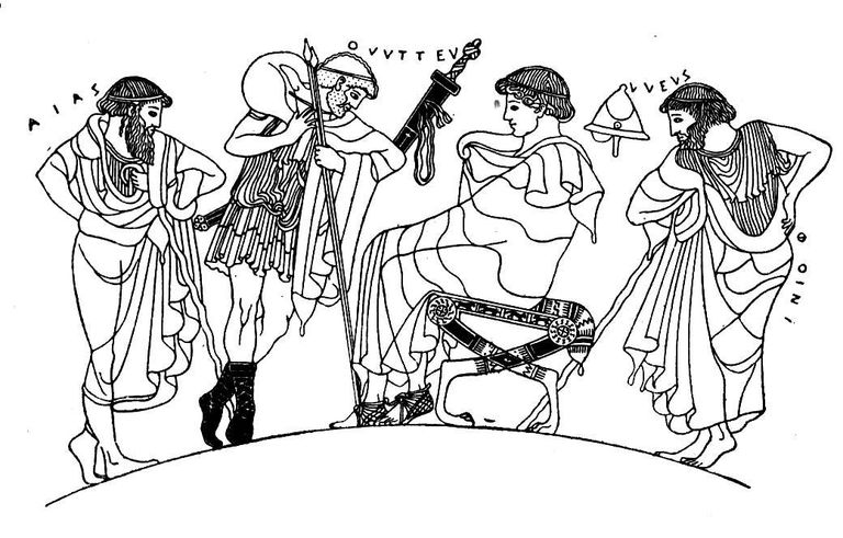 Illustration of Iliad Characters