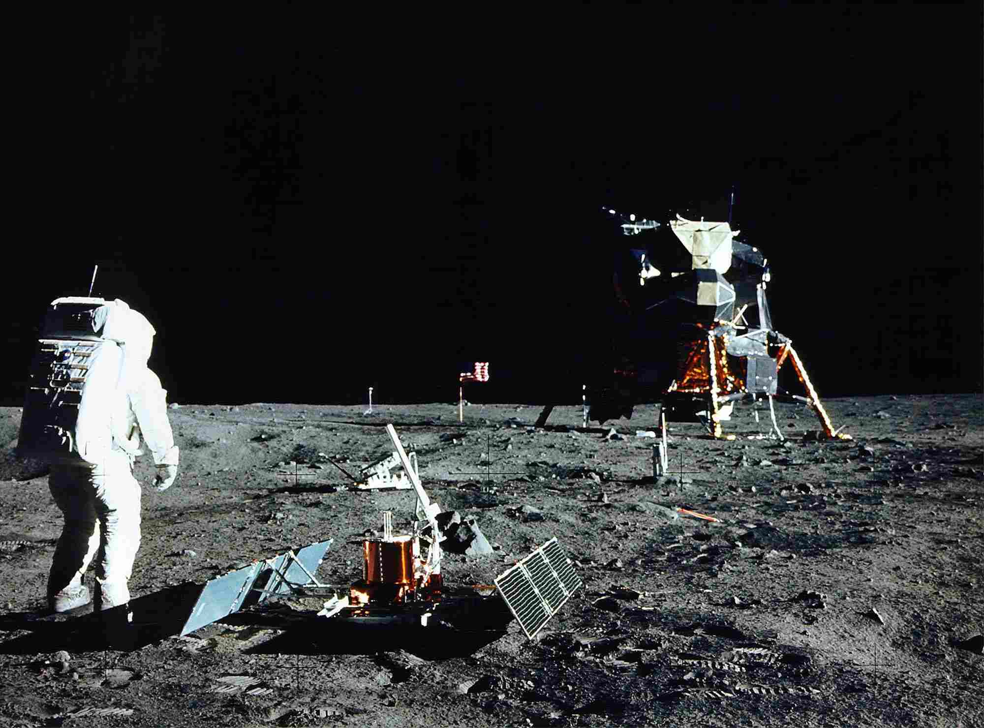 Apollo 11 lunar module on the moon