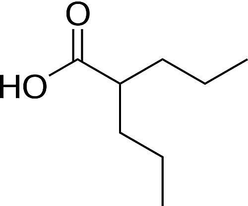 This is the chemical structure of valproic acid.