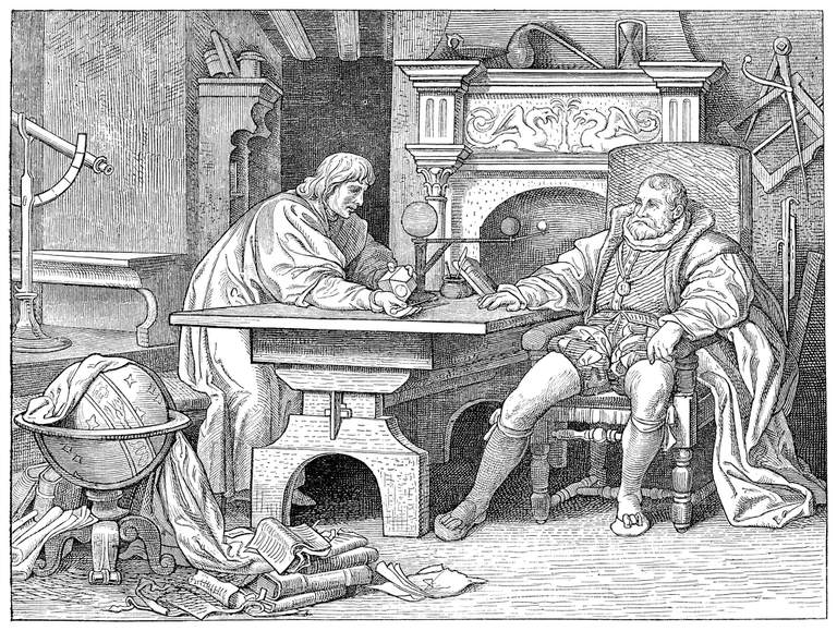Johannes Kepler with King Rudolf II