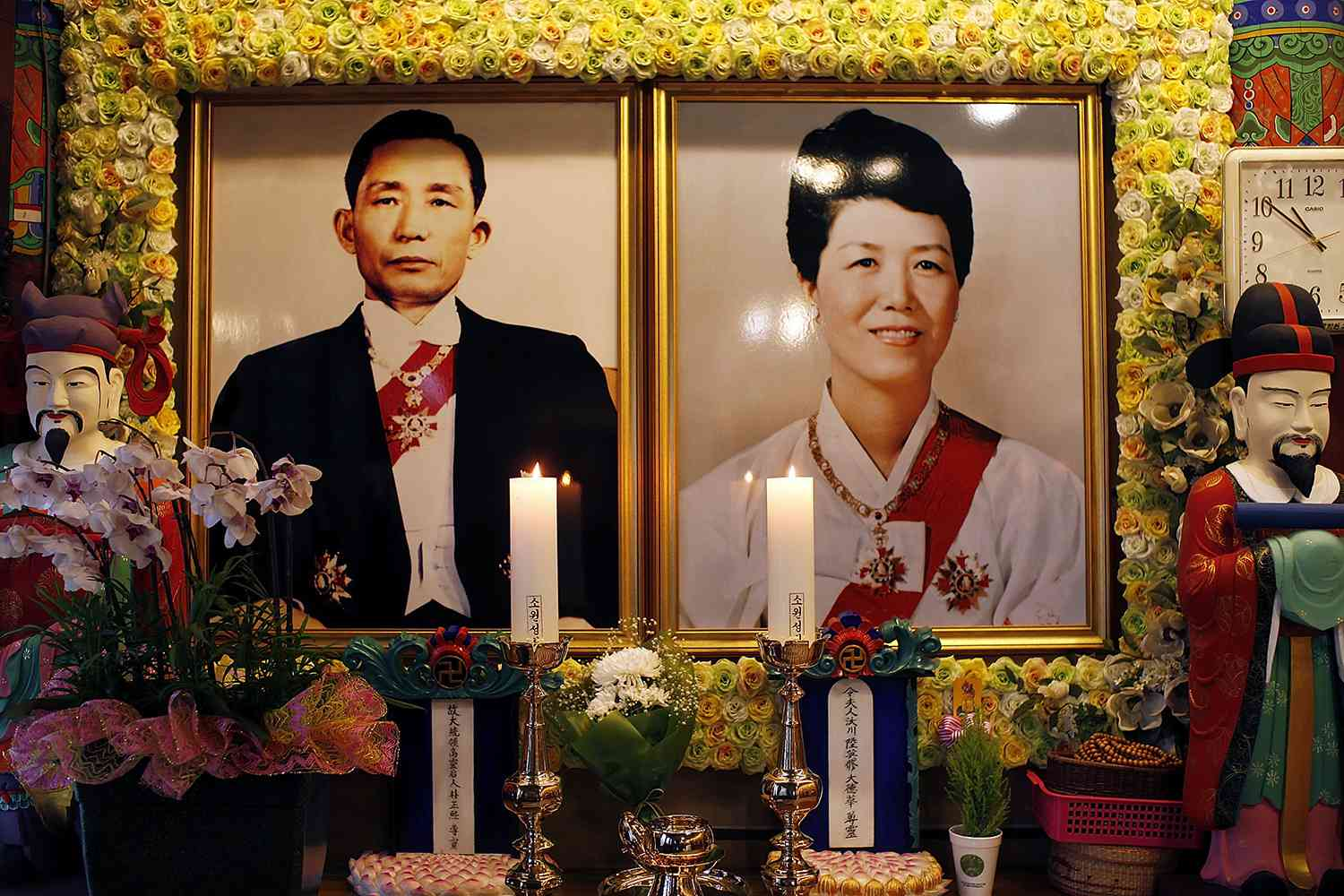 President Park Chung-Hee and His Wife Yuk Young-Soo
