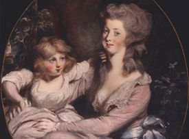 Peggy Shippen (wife of Benedict Arnold) with one of her children