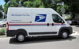 USPS Dodge Ram delivery van