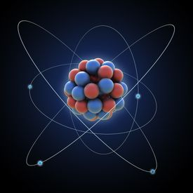 A conceptual visualization of an atom