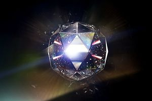 Rubbing or cutting a diamond may produce light from triboluminescence.