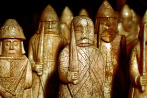 Norse chessmen, from a Viking hoard, Isle of Lewis, Scotland