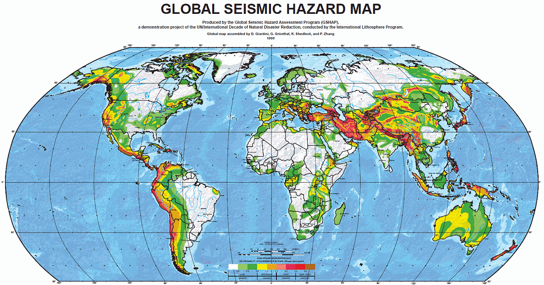 Major Earthquake Zones Worldwide