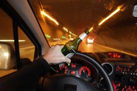 POV of drunk driver in a tunnel