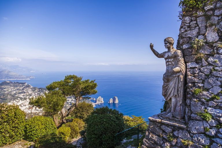 Statue of Tiberius on Capri island, Italy