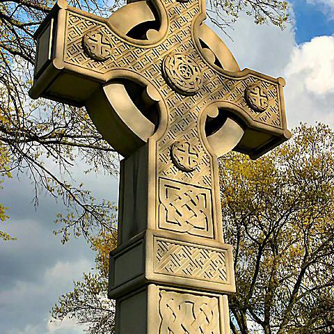 The Celtic or Irish cross is a cross within a circle, symbolizing eternity